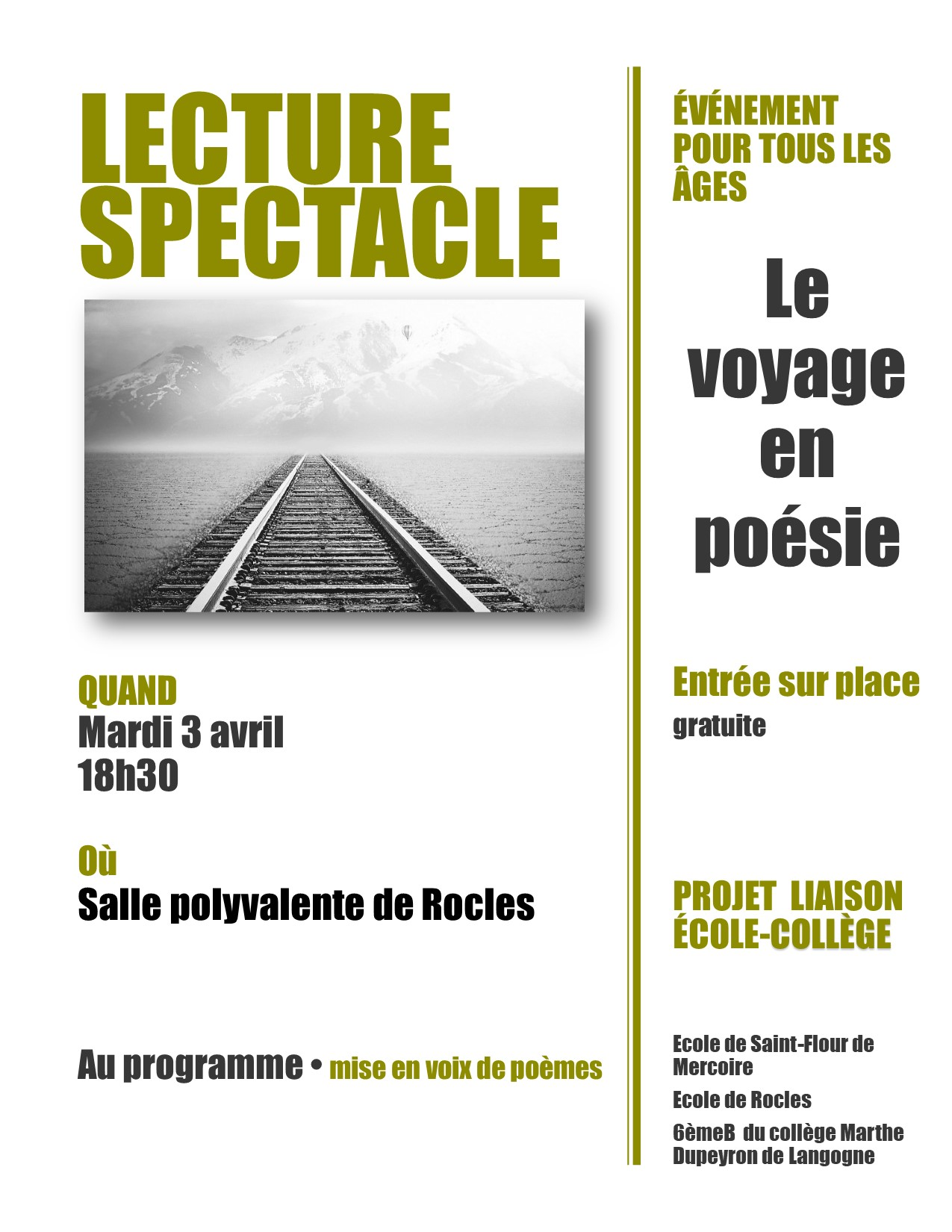 LECTURE SPECTACLE