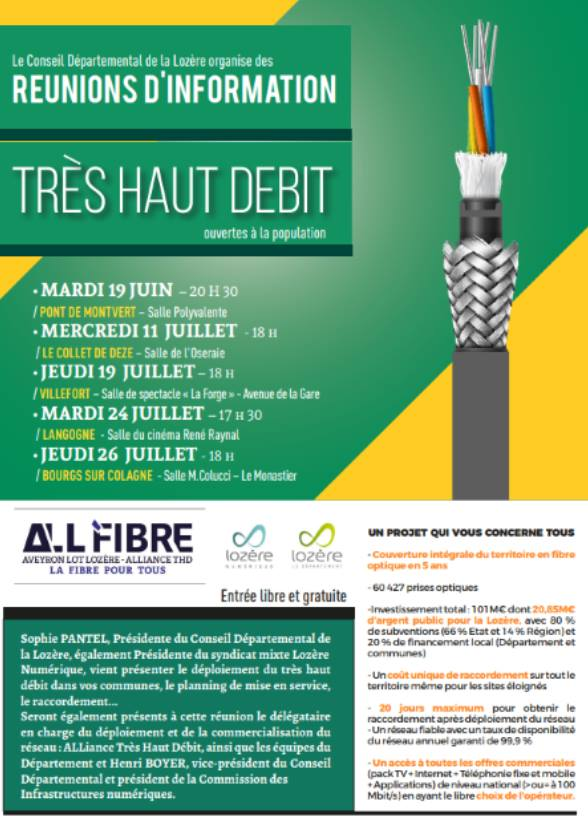 REUNION D'INFORMATION TRES HAUT DEBIT