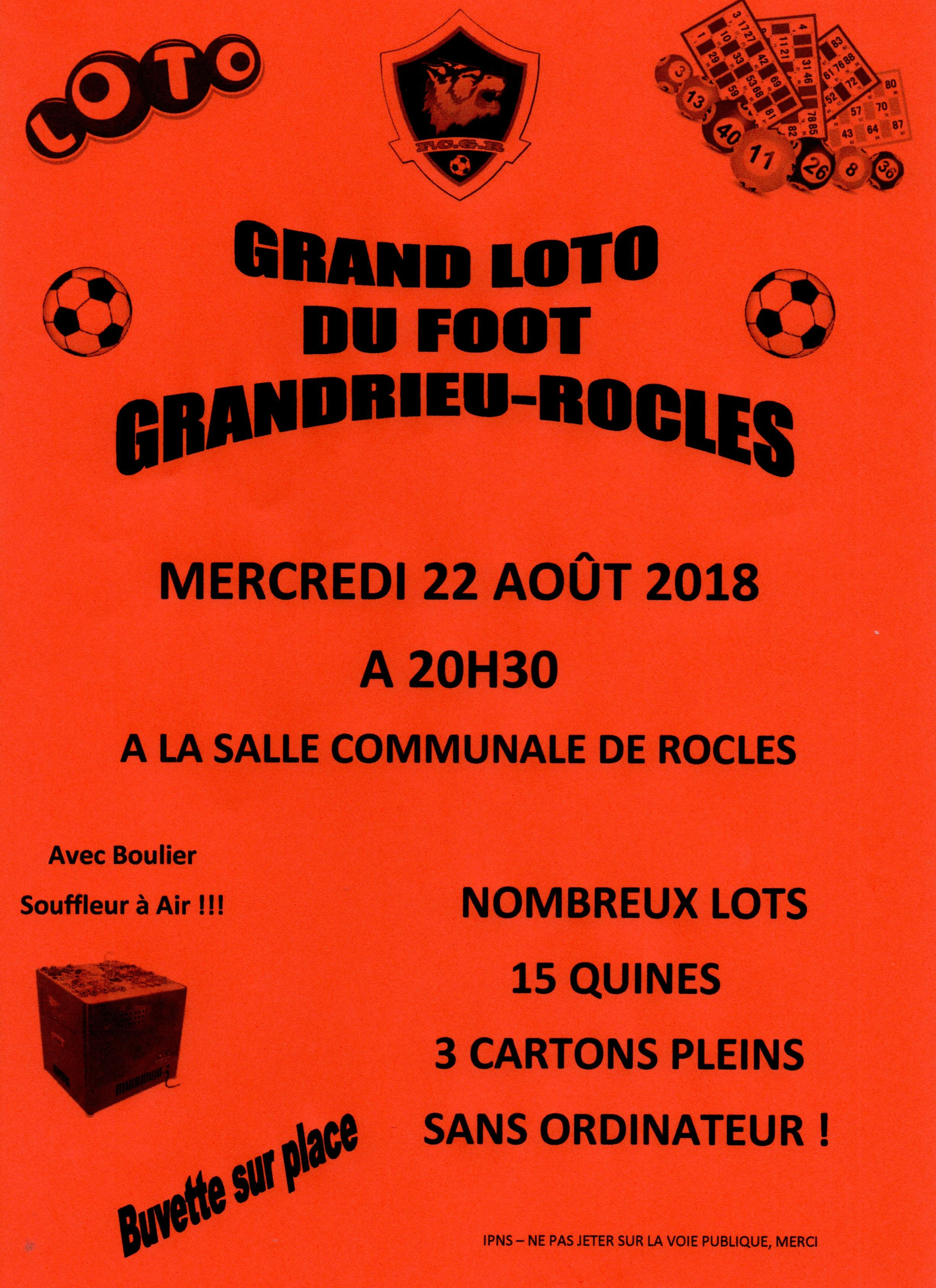 LOTO DU FOOT GRANDRIEU ROCLES