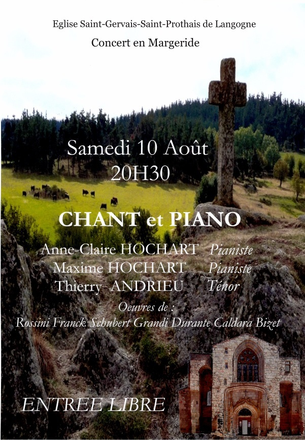 CONCERT CHANT ET PIANO